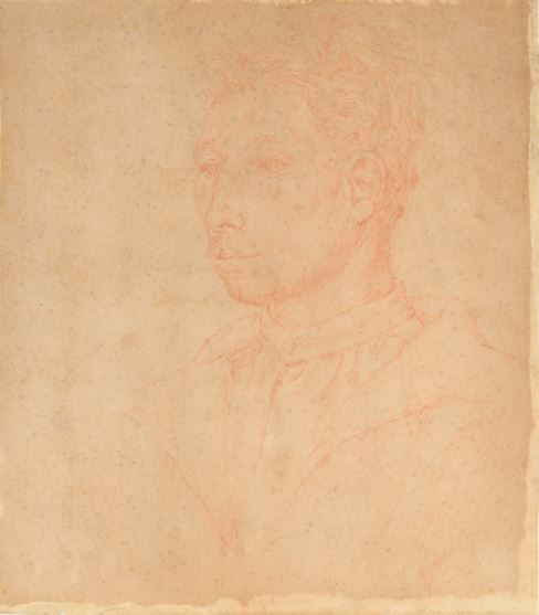 Vincent van Gogh, (attr.), Self Portrait, red pencil or sanguigna on brown / ocher light paper, courtesy of the Diocesan Museum, Milan, MyTemplArt Magazine