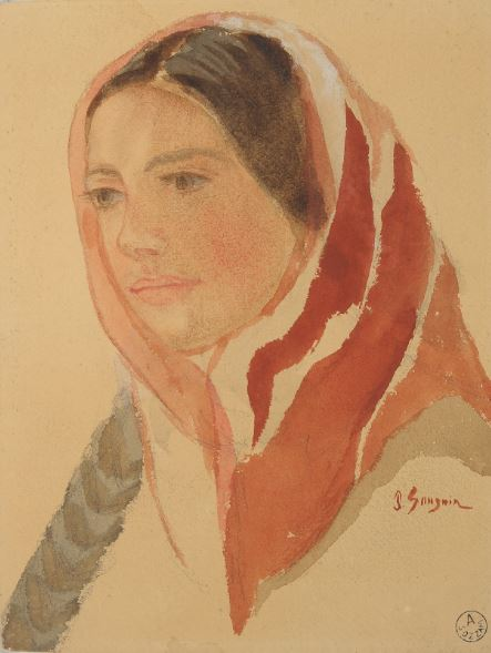 Paul Gauguin (attr.), Portrait of a young woman, pencil and watercolor on paper, courtesy Museo Diocesano, Milan, MyTemplArt Magazine