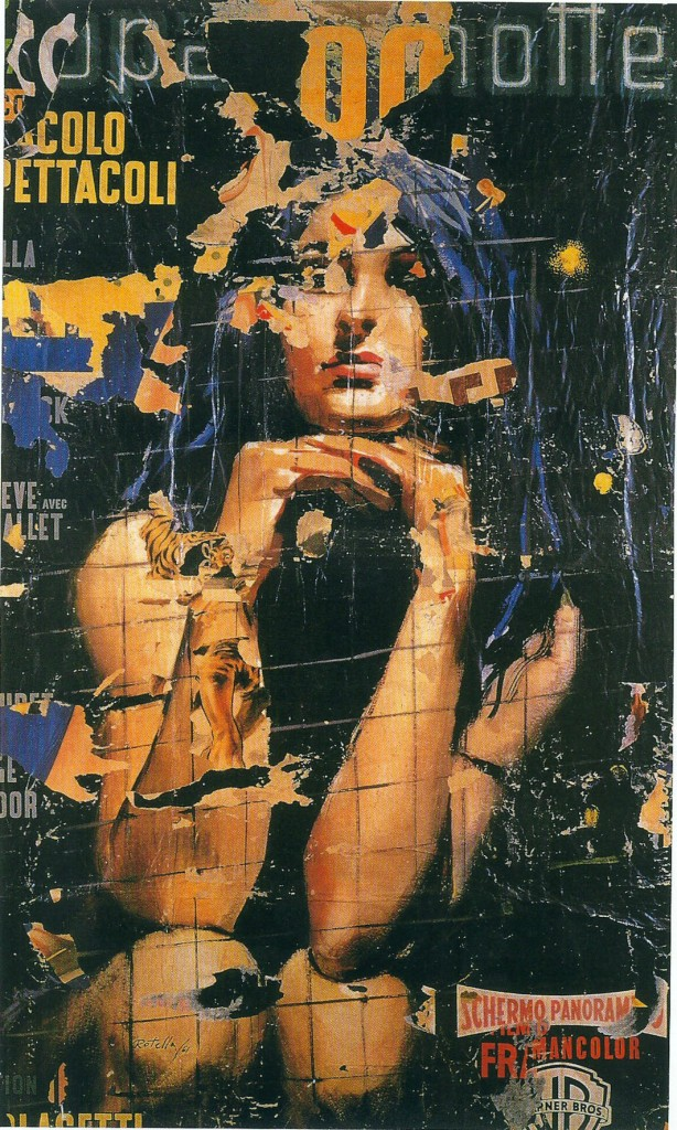 Mimmo Rotella, Europa di notte(1961), décollage su tela, cm 182x108, Wien Museum moderner kunst stiftung Ludwig Wien