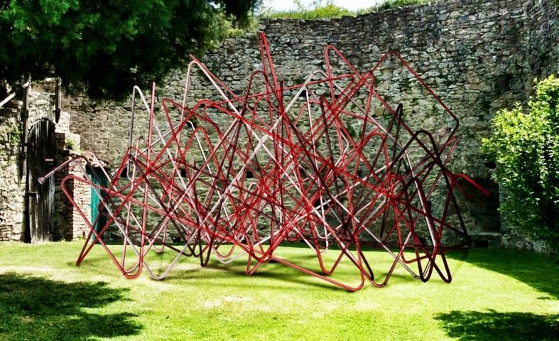 Attilio Stocchi Interiora, 2014 Installazione, Rocca d'Olgisio, Pianello Rendering del progetto Courtesy e copyright: Attilio Stocchi