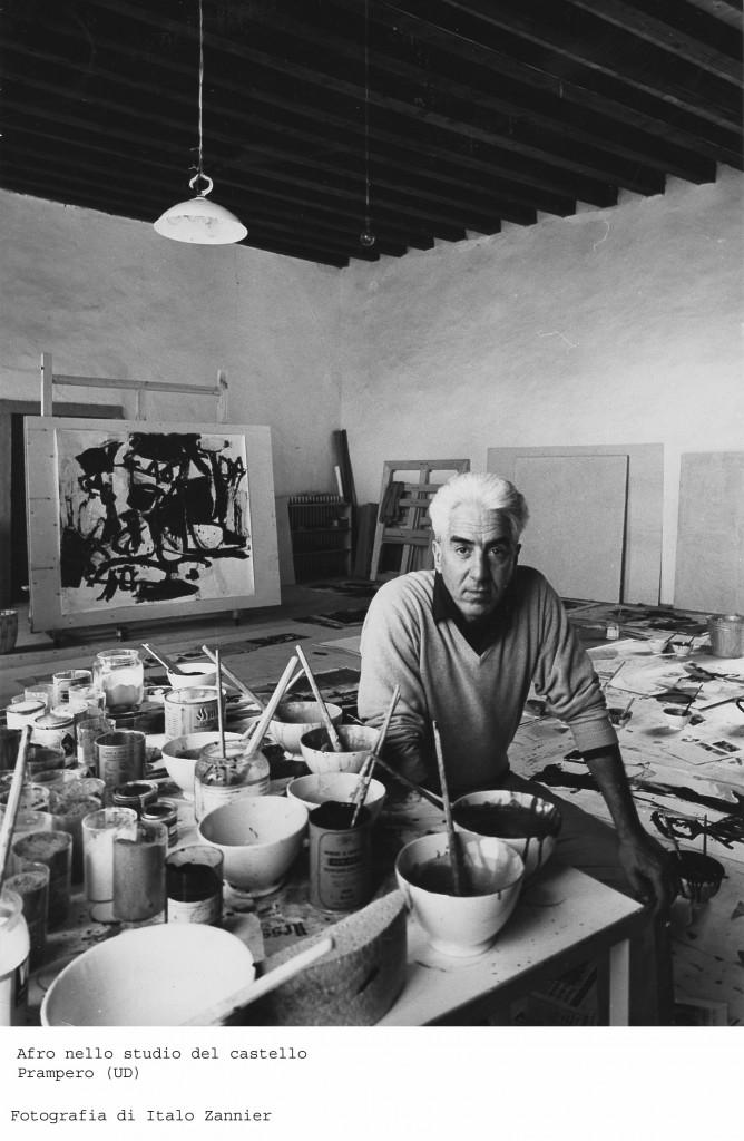senza autore, Afro nel suo studio , anni '60