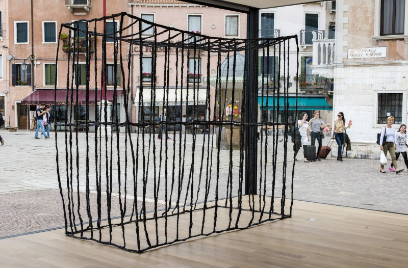 Anna Zvyagintseva, The Cage (2010), textile, metal, 250 x 200 x 100 cm