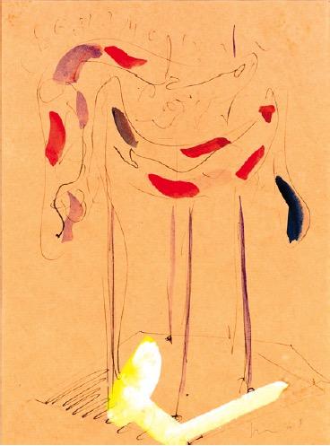 L. Fontana, Ambiente spaziale, 1948 (fl/2167). Ink brush on paper. Credits GAM - Fondazione Torino Musei.