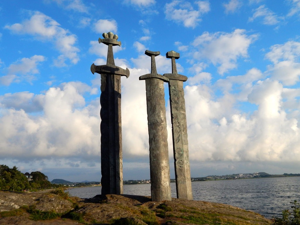 """Swords in rock"", monument dedicated to the unification of Norway"