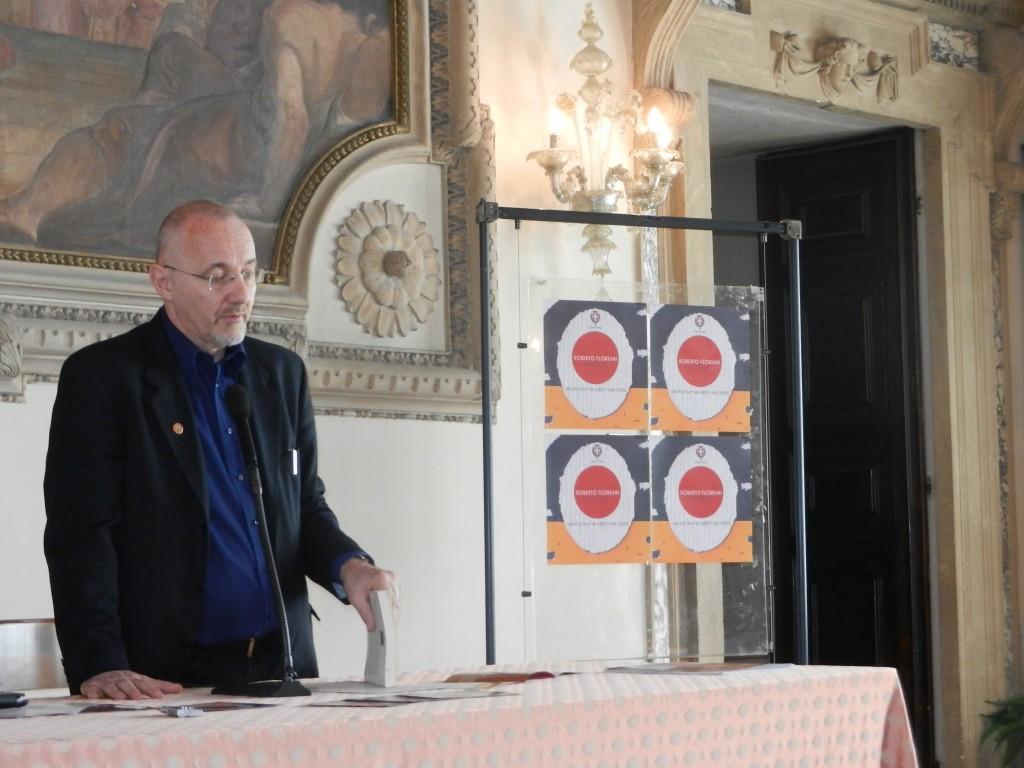 Roberto Floreani alla presentazione del libro I Futuristi e la Grande Guerra