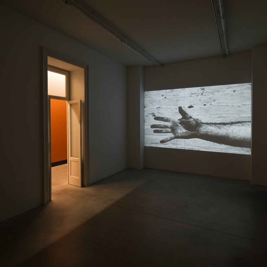 Richard Serra, Hand Catching Lead, 1968 Exhibition view of 'In Part' curated by Nicholas Cullinan Fondazione Prada, Milano, 2015 Photo Attilio Maranzano Courtesy Fondazione Prada