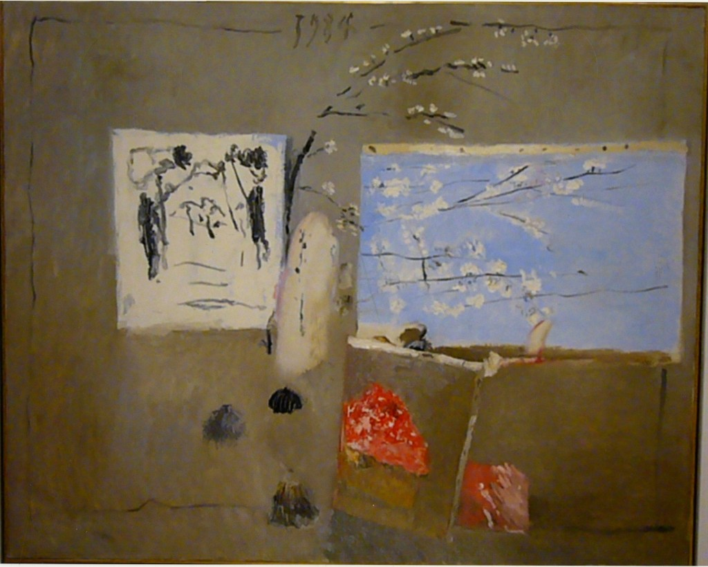 Il Ramo di Susino (1984), oil on canvas, 90x100