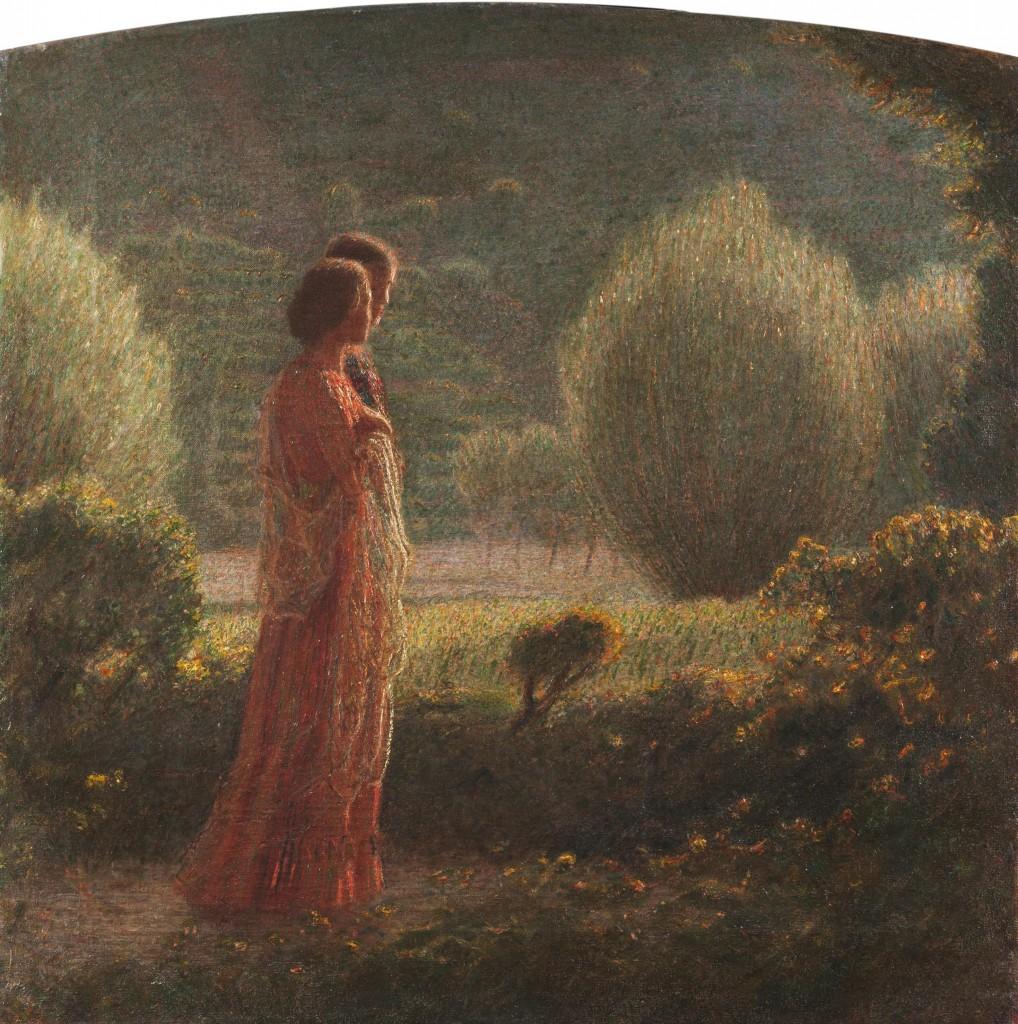 L'amore nella vita, 1901- 1902 Olio su tela, 93 x 92 cm Collezione privata, courtesy Gallerie Bottegantica Milano