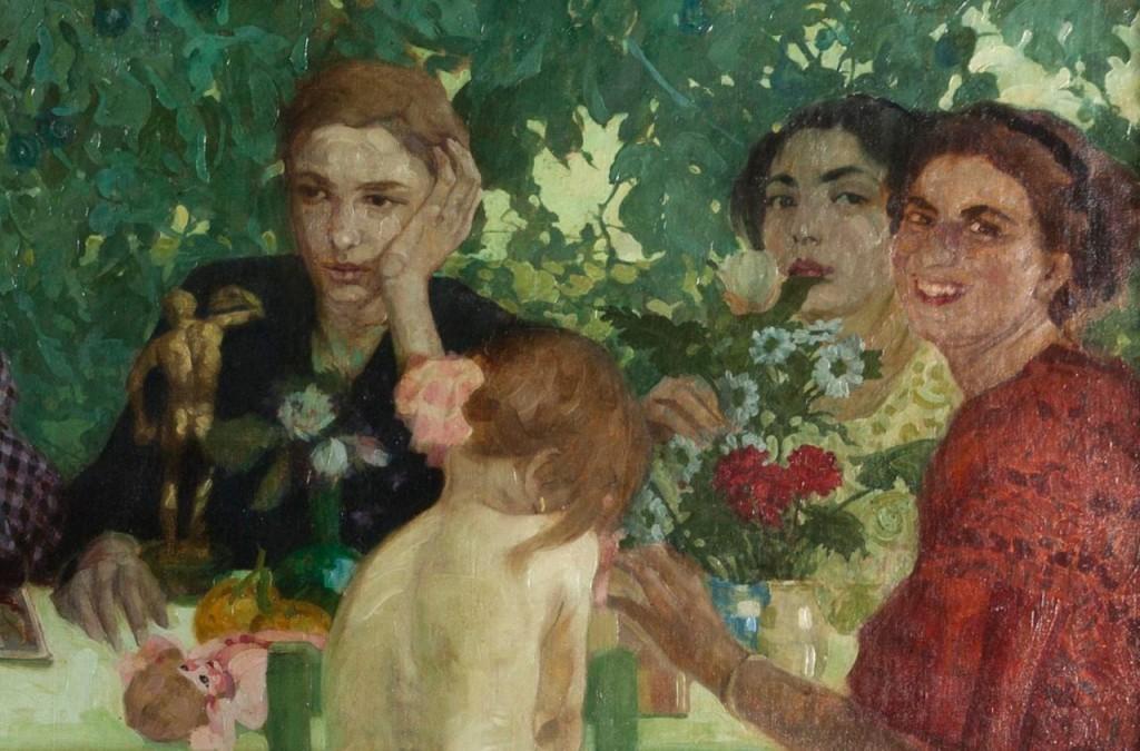 Felice Casorati, Persone, 1910 partic., olio su tela. Collezione privata. Courtesy of the museum.