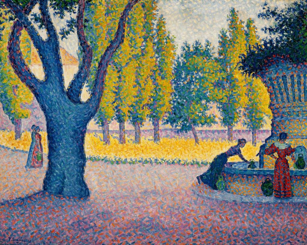 Paul Signac Saint-tropez-fontaine-des-lices-1895-olio-su-tela-65-x-81-cm-collezione-privata-fotografia-maurice-aeschimann